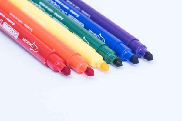 bright colored markers colorful colors